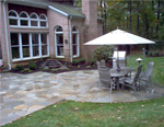Brick and Natural Aggregate Patios